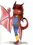 Adoptable- Red Wyvern Girl [OPEN] by CarthageNut