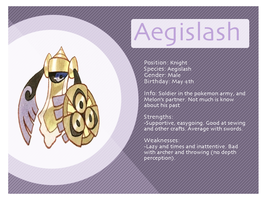 Aegislash Bio Sheet by Xyliax