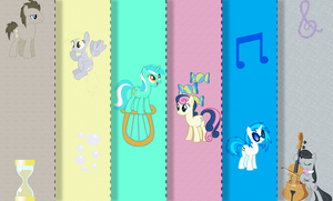 Fabric Mane Background Ponies Wallpaper by Tom-The-Rock