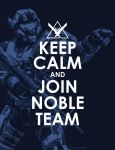 KEEP CALM AND JOIN NOBLE TEAM by GRANDBigBird