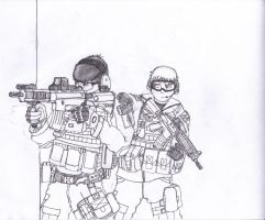 Mikhail and Riley- An Army of Two by jmig3