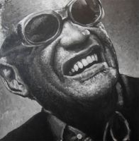 Ray Charles Portrait Painting by JonMckenzie