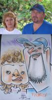 caricature- florida couple 08 by chrisCHUA