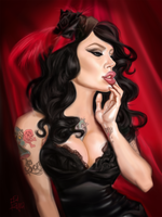 Micheline Pitt Is Dead Sexy by Frayna77