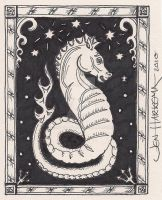 Artist Trading Card-Seahorse by Art-ifact