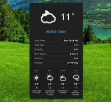 Elegant Weather v2 for xwidget by jimking