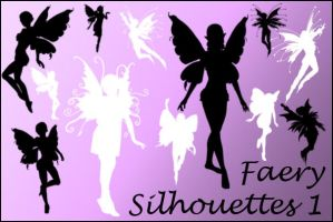 Faerie Silhouettes1 Image Pack by joannastar-stock