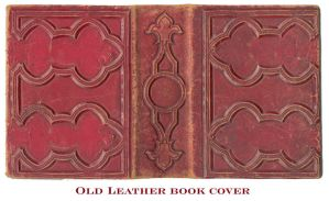 Old Leather Book Cover by duneberry
