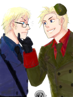 hetalia - DenSwe by lackofsleep