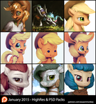 January Patron Packs - HighRes and PSD by AssasinMonkey