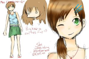 For Sara: Main Character - Girl by moomoko