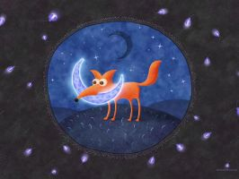 The Fox And The Moon by vladstudio