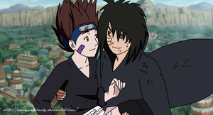 Obito holds Rin by rainyandcloudy on DeviantArt