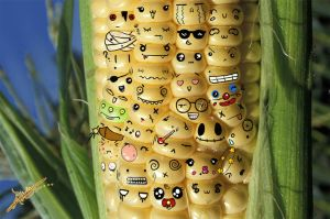 Corn Smilies by Hands-of-Clay