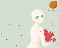 girl with roses base by PixelNuggets