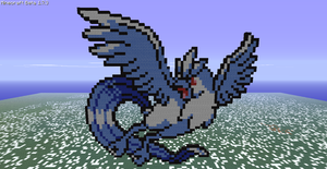 Minecraft- Articuno Again by aprilgoddess