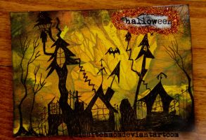 halloweentown ATC by quidditchmom