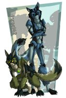 Wild Brothers: Wolf forms by Israel42