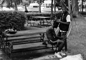 Haircuts in the park by hodorkon1