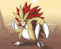 Shiny sandslash by shinyscyther