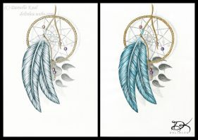 Feathery Dreamcatcher by Delinlea