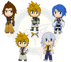 Assorted Chibis - KH Edition by Dragon-FangX