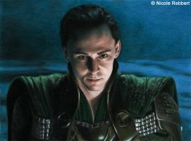 Loki (colour pencils) by Quelchii