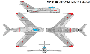 Mikoyan-Gurevich MiG-17 Fresco by bagera3005