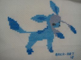 glaceon cross-stitch unique by Baka-customs