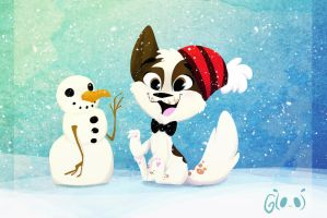 Maowi Loooves Snow by GTOxOT