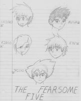 The Fearsome Five by zybynarx