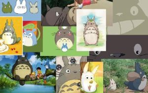 Totoro collage by buttonsthegreat