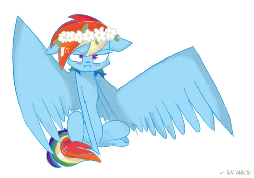 MLP in Flowers ~ Rainbow Dash by RatAnn