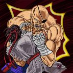 Sagat and Ryu by Sira Artista Grafico by sira