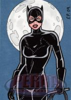 Catwoman Sketch Card by ElainePerna
