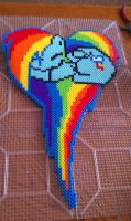 Rainbow Dash Heart by SabretoothCreations