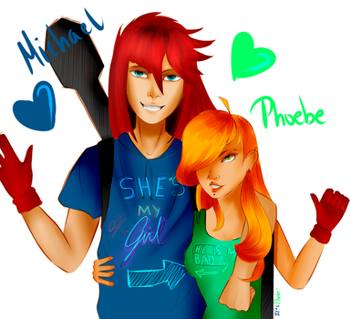 Michael and phoebee by ItsPhoebee