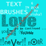 text brushes by vishalrokez