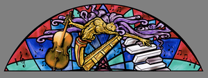 Stained glass nymph music by ImaginedGlass