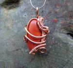 copper and red jasper weave wrap by crystalpanther2