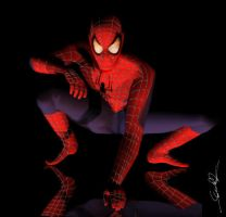 3D rendered  SPIDERMAN by j4ever