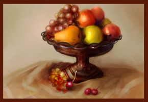 Fruit Tray Painting Redone by BlackDelphin