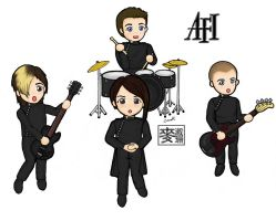 Chibi AFI Group Coloured by billiej0e