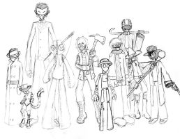 OC Group Sketch by Four-by-Four