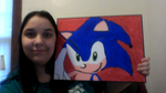Me And My Painting In Rl by BluethornWolf