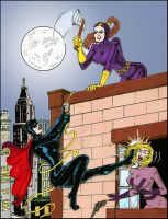 Miss Fury and the Rooftop Battle by dangerfan