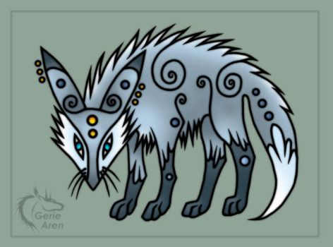 Silver foxlet by Gerie-Aren