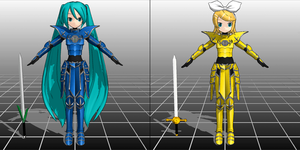 Knight Miku and Rin Download by SirKnightThomas