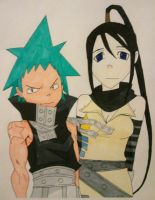 Black Star and Tsubaki by AKMG