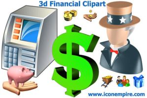 3d Financial Clipart by Ikonod